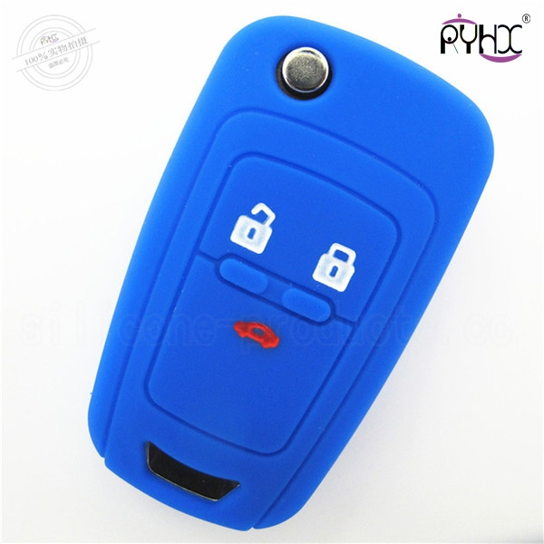 Chevrolet Cruze auto key silicone protector, silicone auto key remote case, car key silicone cover for Cruze, blue