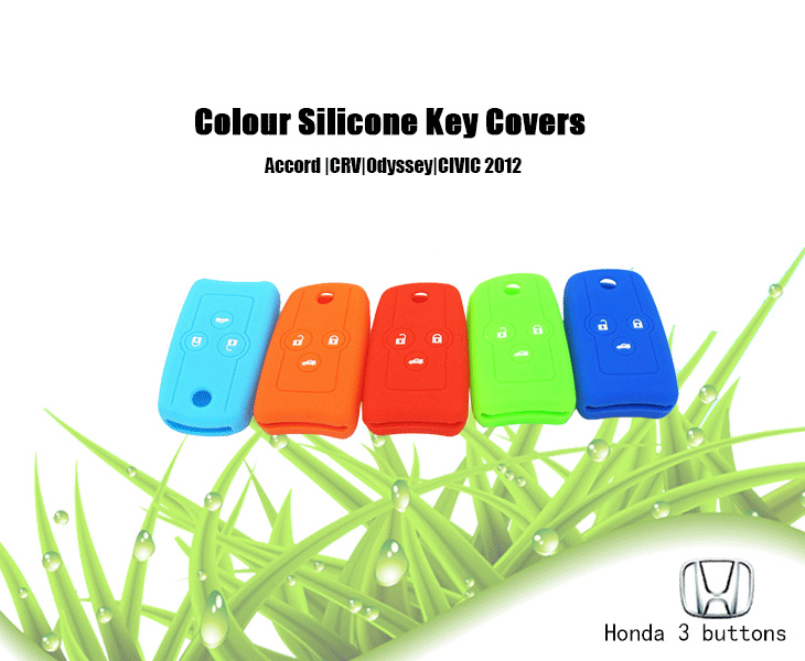 Honda Odyssey key fob covers, many colors can be selected, can protect car key covers from water and dust, light and good toughness silicone key protector for Honda, which is durable and wear resistance, and it is also very cheap for people, even customize the key cover according to your requirement.