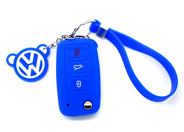 blue vw key cover