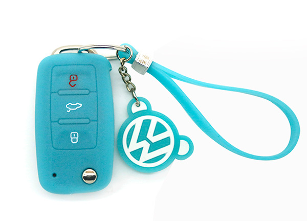 Luminous blue vw key cover