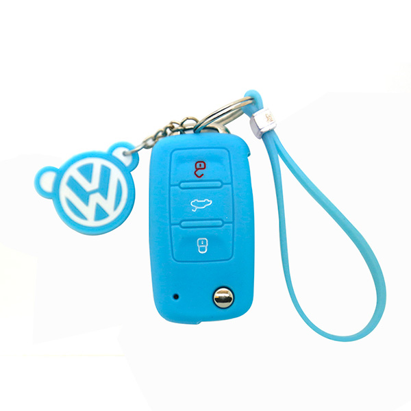 sky-blue vw key cover